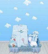 Yeni Doğan Hoş Geldin Bebek Hediyesi Çitli Set Tulumu (Erkek)