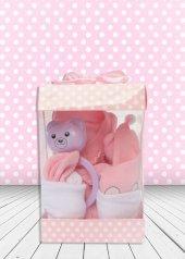 Yeni Doğan Hoş Geldin Bebek Hediyesi Dikey Şeffaf Kutulu (Kız)