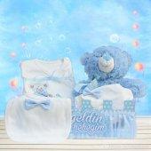 Yeni Doğan Hoş Geldin Bebek Hediyesi 5 Li Çitli Set (Erkek)