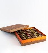 Liva Bronz Taba Dolgulu Çikolata Kutu Büyük