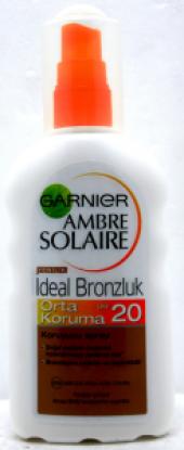 Garnıer Ambre Solaıre F20 Süt Spry Ideal Bronzluk Orta Koruma 200