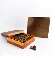 Liva Bronz Taba Dolgulu Çikolata Kutu Küçük-3