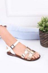 Tarçın Hakiki Deri Günlük Kadın Sandalet Ayakkabı Trc70 0077