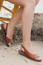 Tarçın Hakiki Deri Günlük Kadın Sandalet Ayakkabı Trc70 0076