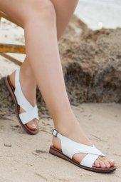 Tarçın Hakiki Deri Günlük Kadın Sandalet Ayakkabı Trc70 0069