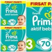Prima Aktif Bebek Bezi 3 Numara 210 Adet Fırsat Paketi