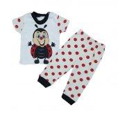 Kız Erkek Bebek Uğur Böceği Pijama Takımı 3 9 Ay Kırmızı C73347 1