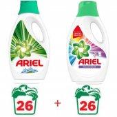 Ariel Renkli Beyaz Sıvı Çamaşır Deterjanı 26...