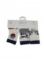 Erkek Bebek Kokulu Çorap 0 3 Ay Lacivert C71114 1