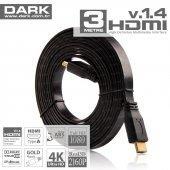 Dark 3m Slim Hdmı V1.4 3d Ve Ağ Destekli Altın Uçl...