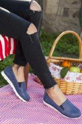 Tarçın Hakiki Deri Günlük Kadın Babet Ayakkabı Trc68 0755