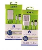 Sunix Samsung 2 Amper Ev Tipi Şarj Cihazı Set