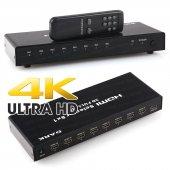 Dark 4k Ve 3d Özellikli 8 Giriş 1 Çıkış Uzaktan Kumandalı Hdmı Switch (Seçici) (Dk Hd Sw8x1)