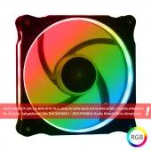 Dark 120mm Ultra Bright Ring Rgb Ledli 6 Pin Kasa Fanı (Rgb Kit İle Uyumlu) (Dkcf121rgb)