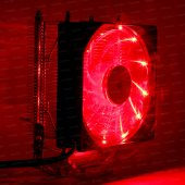 Dark Freezer X92rd, 92mm 4pin Pwm Kırmızı Led Fanl...