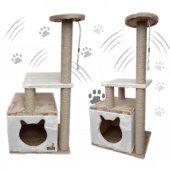 Küp Yuvalı Kedi Tırmalama Alanı ve Evi -2