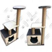 Küp Yuvalı Kedi Tırmalama Alanı ve Evi -3
