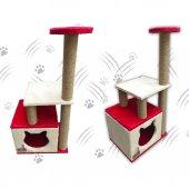 Küp Yuvalı Kedi Tırmalama Alanı ve Evi -4