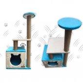 Küp Yuvalı Kedi Tırmalama Alanı ve Evi -5