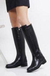 Tarçın Hakiki Deri Günlük Kadın Topuklu Çizme Trc101 2126