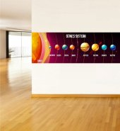 Güneş Sistemi Ve Gezegenler 10 Ebat 135x400 Cm