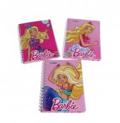 Gipta Barbie A6 Spiralli 80 Yaprak Çizgili Defter 36li