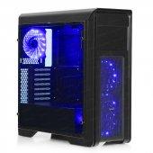 Dark N10 Pro 750w 80+ Bronze 3x12cm Mavi Fanlı, Fan Kontrolcülü, Cam Yan Panelli, Usb 3.0 Bilgisayar Kasası (Dkchn10pro750br)