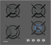 Simfer 3031 Siyah Cam Set Üstü Ocak