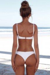 Angelsin Beyaz Şık Bikini Takım-2