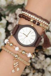 Nota Figürlü Şık Kadın Kombin Saat I Hediye Kadın Saat Hediye Bayan Saat
