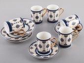 Sembol Sahra 6 Lı Lux Kahve Takımı