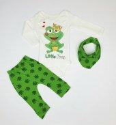 Erkek Bebek Kurbagalı Modelli Flarlı Takım 3 9 Ay Yeşil C73233 6