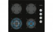 Simfer 3508 Wok Gözlü Siyah Cam Ankastre Ocak