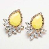 Altın Kuğu Ak00917 Vintage Kristal Küpe Rodyum Rose Gold