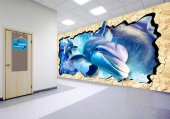 3d Yunuslar Duvar Giydirme