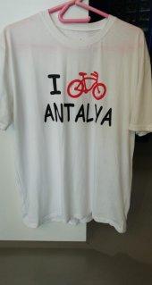 Procycle I Bike Antalya Baskılı Tişört(Beyazl Beden)uysal Bisikletücretsiz Kargo
