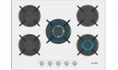 Simfer 3706 Beyaz Cam Ankastre Ocak