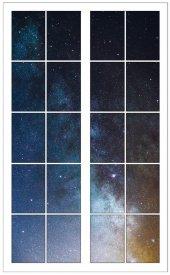 Pencere, Yıldızlı Gökyüzü Duvar Sticker