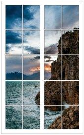 Pencere, Deniz Kıyısı, Kayalık Duvar Sticker