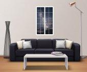 Pencere, Yıldızlı Gökyüzü, Gece Duvar Sticker-2
