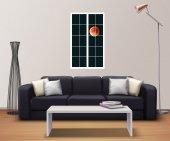 Pencere, Dolunay, Yıldızlı Gece Duvar Sticker-2