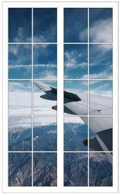 Pencere, Uçak, Gökyüzü, Bulutlar Duvar Sticker