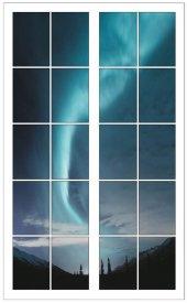 Pencere, Gökyüzü, Kuzey Işıkları Duvar Sticker