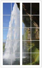 Pencere, Şelale Duvar Sticker