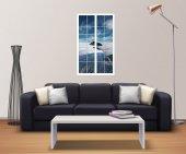 Pencere, Uçak, Gökyüzü, Bulutlar Duvar Sticker-2