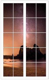Pencere, Yıldız, Gökyüzü Duvar Sticker