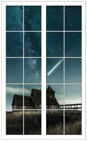 Pencere, Gece, Yıldız, Ev, Gökyüzü Duvar Sticker