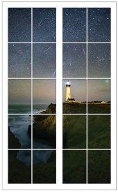 Pencere, Deniz Feneri Duvar Sticker