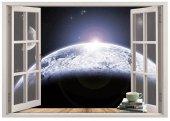 Pencere, Atmosfer, Dünya, Uzay Duvar Sticker