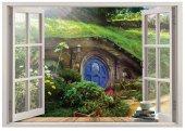 Pencere, Hobbit Köy, Shire Duvar Sticker